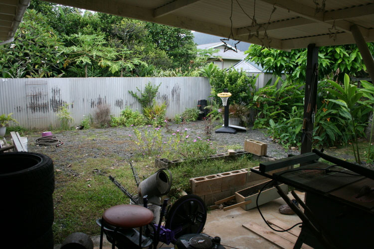 Before picture taken from the lanai